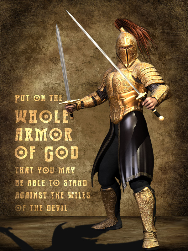 armor of god The armor of god, more than merely a biblical description of the believer's inventory, is an action plan for putting it on and developing a personalized strategy to secure victory (7 sessions) (7 sessions).