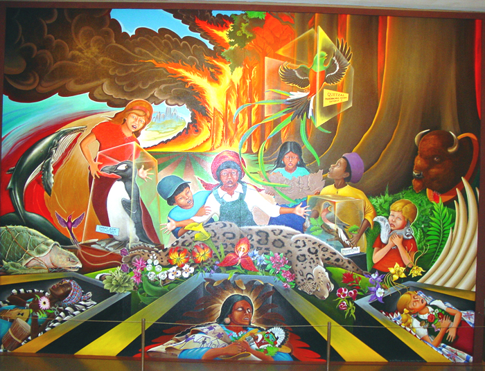 Denver international airport dia mystery of the iniquity for Denver airport mural