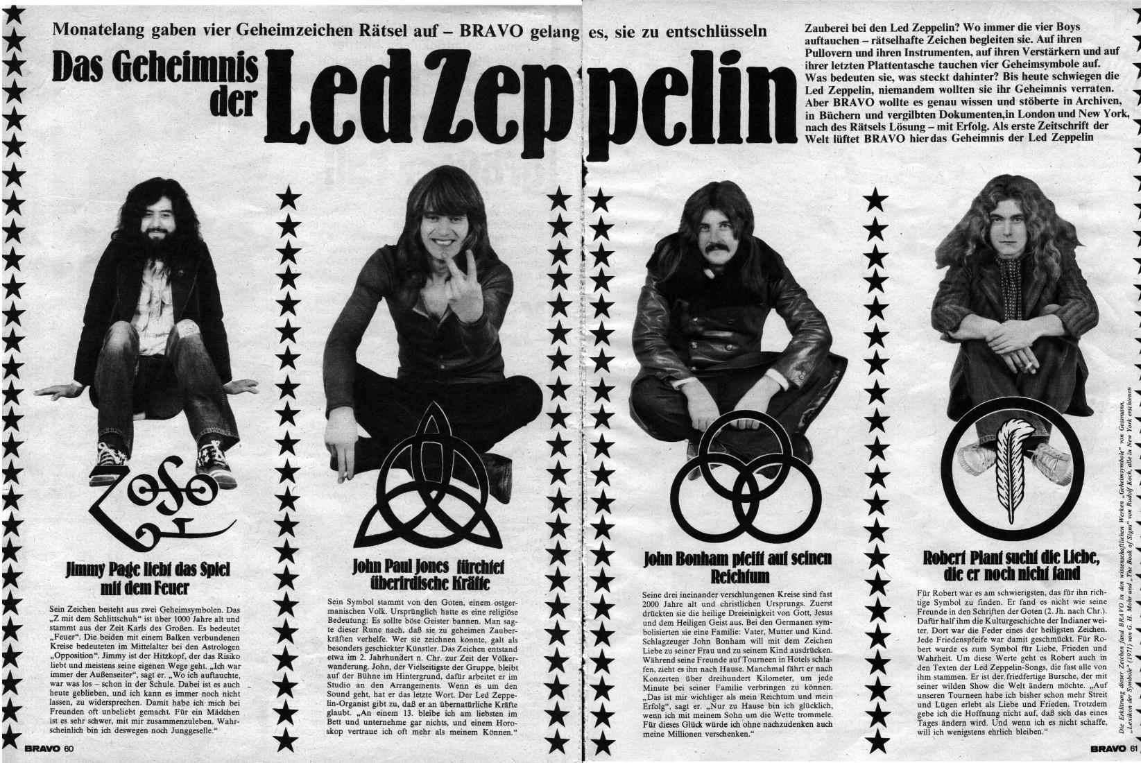 LED Zeppelin Symbols Meanings