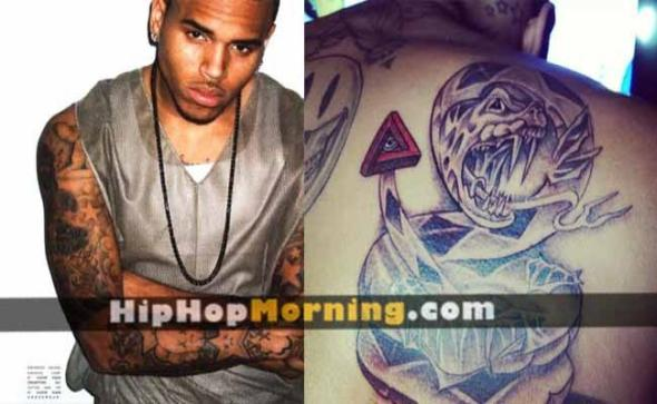 Chris Brown Snake Tail Illuminati Tattoo