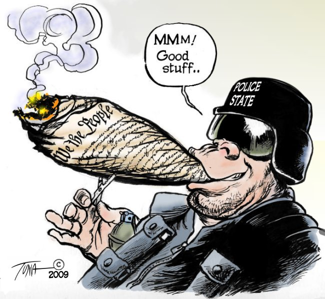 cartoon police state