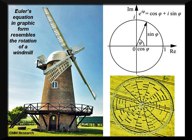 Crop Circle Wilton Windmill, nr Wilton, Wiltshire. Reported 22nd May 2010 Euler