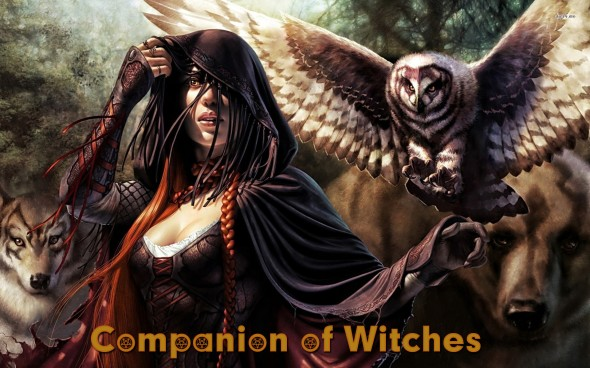 17980-witch-with-her-owl-wolf-and-bear-1920x1200-fantasy-wallpaper