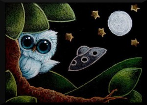 TINY-AQUA-OWL-A-UFO-IS-HERE