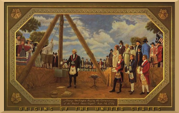George Washington Cornerstone Laying