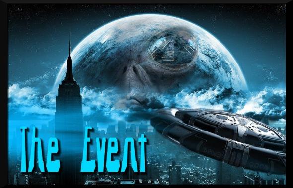 UFO NYC Night world behind highrise