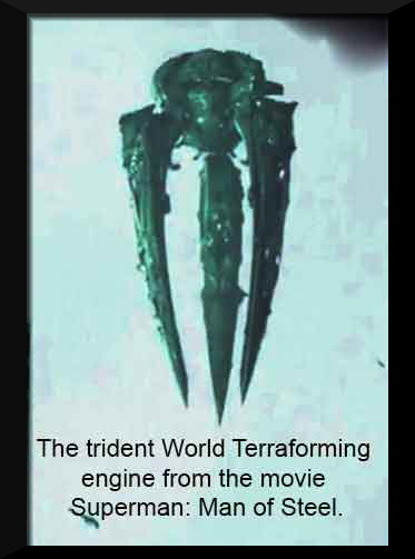 Image result for picture of trident shaped alien ship in man of steel movie