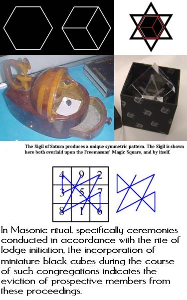 6 - Visual Representation - Occult Symbology - Black Cube of Saturn - Masonic Ritual