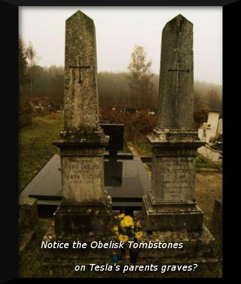 tesla parents headstones