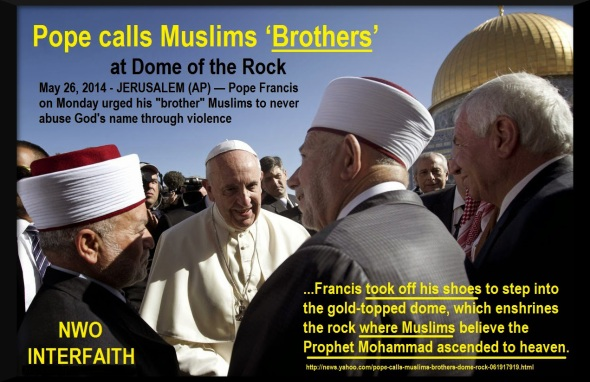 Pope calls Muslims 'brothers' at Dome of the Rock