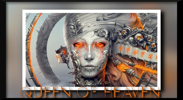 women skulls clouds metal halo magic piercings statues artwork crying orange eyes gray hair faces pl_www.wallmay.net_92