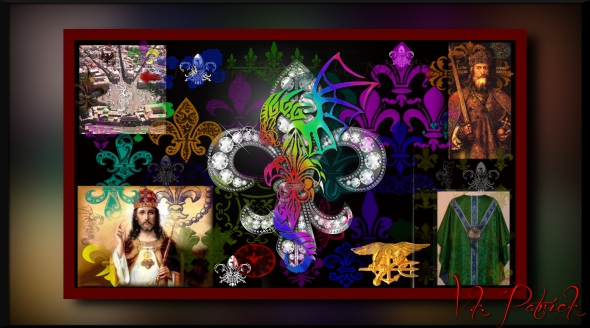Fleur De Lys 3D Wallpaper