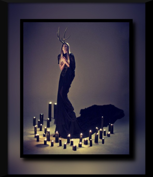 Easter-Oestre-Woman-in-long-black-shawl-surrounded-by-candles